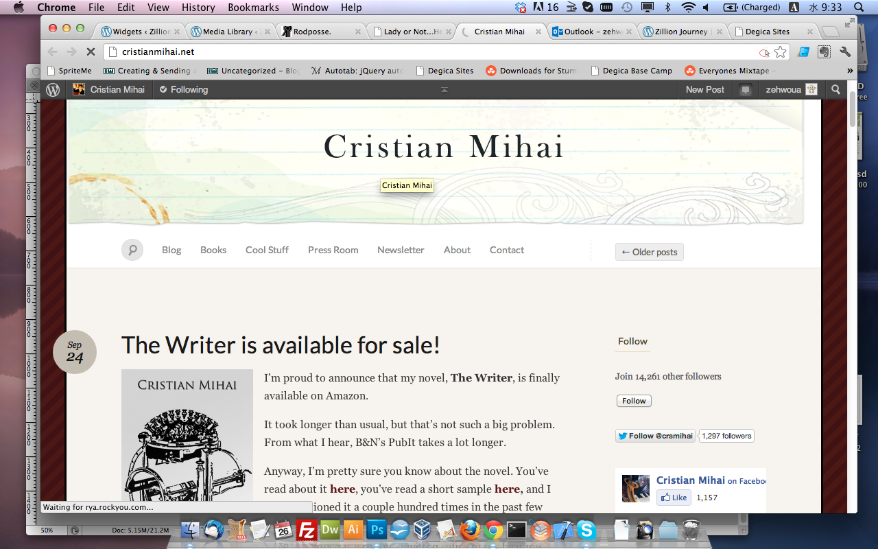 Cristian Mihai writers blog